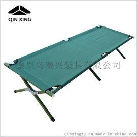 批发单人简易折叠床 便携式行军床午休床 野外露营行军床军绿