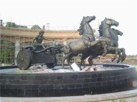 玻璃钢欧式骑马罗马武士雕塑摆设定做厂家