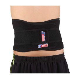 硕鑫 SX632 双层加压磁疗弹簧护腰 黑色 一只装
