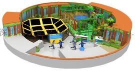 室内儿童乐园大蹦床 儿童攀爬彩虹网