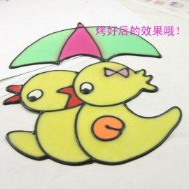 上海膠畫,烤畫批發,烤焦畫配彩圖