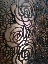 鑫宗师专业定做不锈钢有色屏风隔断 艺术屏风 造型花格屏风