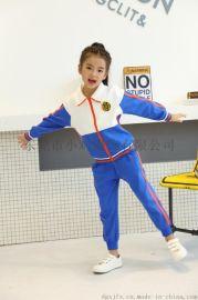 小鸡品牌套装男女童装中儿童园服两件套秋装新款时尚长袖衣裤