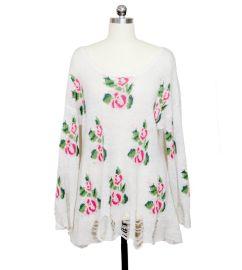 7針 秋冬破洞花朵毛衫套頭衫加工生產 服裝廠代加工各類高端毛衫