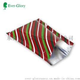 高端定制三边封斜条纹礼品袋 圣诞礼品包装袋