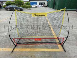 派迪茵生产便携式双人踢高低训练反弹网 球门球网
