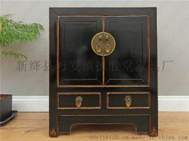 德盛堂新中式床头柜实木卧室储物柜现代中式家具沙发边柜