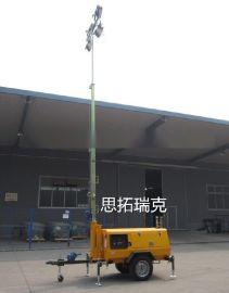 直接升到7米9米的拖车式移动工程照明车 220V电压的码头港口应急照明灯车外贸出口型