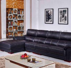 知行堂 客厅组合沙发头层黄牛皮 现代简约风真皮沙发厂家直销客厅家S129
