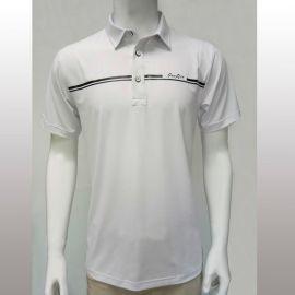 17款夏季高尔夫男装 纯白吸汗速干透气男式休闲T恤POLO衫定制