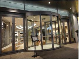 广东坚锋JF-YDM弧形门圆弧自动门生产厂家,多个建筑公司、大型商场指定品,可非标定制。