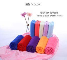 厂家直销70*140礼品摆地摊赠品150g超细纤维浴巾