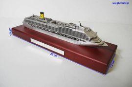 古銀輪船模型
