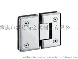 厂家直销 雅诗特 YST-K202 斜边圆角180度双边浴室玻璃夹