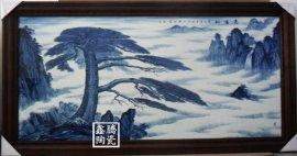手绘青花瓷板画 厂家定做瓷板画