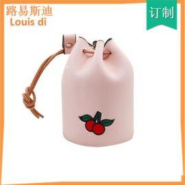 小钱包女 韩版可爱学生零钱包迷你抽绳水桶包小清新韩国硬币包