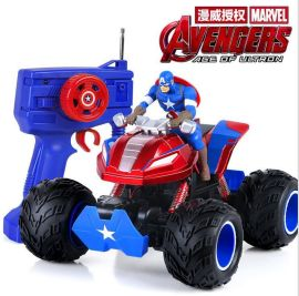 美國隊長越野四驅攀爬大腳車充電玩具車高速漂移賽車男孩遙控汽車