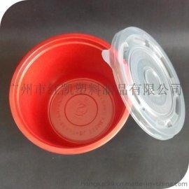 一次性塑料碗,紅黑塑料碗