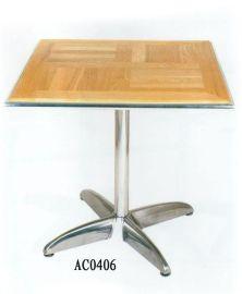 四脚铝木方形餐桌(AC0406)