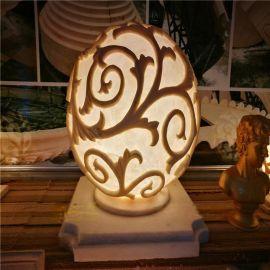 砂岩灯饰 透明灯罩 植物发光透雕 人造砂岩灯罩雕塑定制