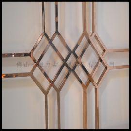 不锈钢花格 不锈钢双层屏风 不锈钢隔断屏风