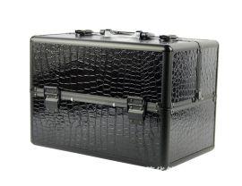 廠家鋁合金化妝箱化妝包首飾美容美甲收納包鋁箱石頭紋豹紋
