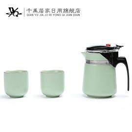 千禹日用家居 2017年厂家直销陶瓷茶具飘逸杯红茶陶瓷杯具