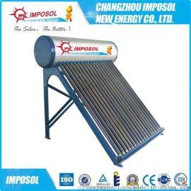 厂家直销一体非承压智能控制电加热真空管太阳能热水器Solar Keymark认证
