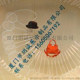 厦门玥诚羽毛球主题创意橱窗展示 商场橱窗装饰道具定制