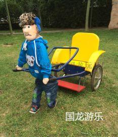 供應荊州機器人拉車圖片,機器人黃包車價格