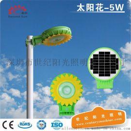 亚马逊爆款户外太阳能一体化庭院灯5W人体感应景观灯LED照明灯