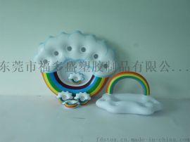 厂家新款新品PVC充气彩虹杯座杯盘 充气彩虹冰盘冰盆