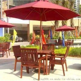 专业生产户外实木套椅,商业步行街优质套椅,广场休闲场所套椅特价