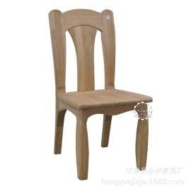 恒岳家具实木白坯椅子现代中式家具高档会所食堂餐饮海棠白茬餐椅