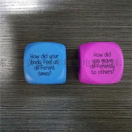 東莞田豐橡塑 聚氨酯PU發泡廣告禮品海綿骰子 定制LOGO及標語