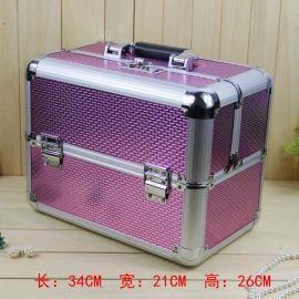 爆款鋁合金化妝箱化妝箱大號首飾品箱78311箱包化妝女包手提包