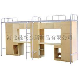 批发定做上床下柜高架床 高低床 学生宿舍公寓床