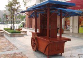 户外商业步行街售货车 户外木制售货车  户外售货车图片