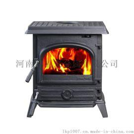 HiFlame HF517UB黑色的独立式铸铁木材燃烧炉