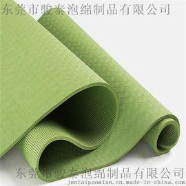 骏泰双色tpe瑜伽垫6mm 加长健身垫子环保无味防滑 瑜伽垫tpe定制