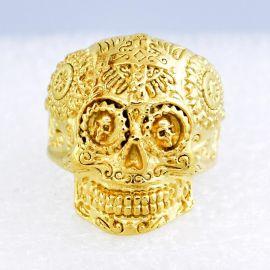 铸造戒指  钛钢首饰   骷髅头鬼头金色饰品  现货批发生产 外贸