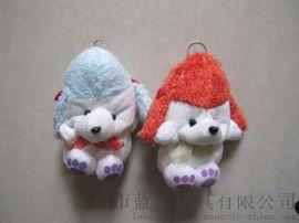 婴儿车毛绒挂件牧羊狗玩具