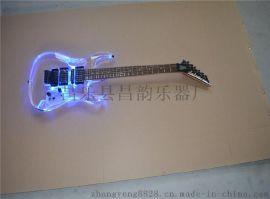 水晶電吉他 LED燈電吉他 可根據要求制作
