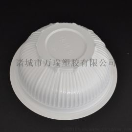 500ml乳白色耐高温可封口一次性塑料/汤料碗/米饭碗/扣肉碗