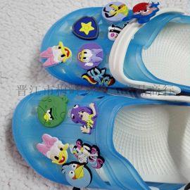 花园鞋花洞洞鞋花定制PVC软胶滴塑鞋花