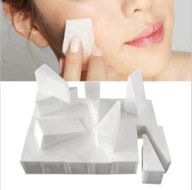 廠家供應小三角形化妝粉撲 雙面皮撲 美甲專用一次性粉小三角粉撲
