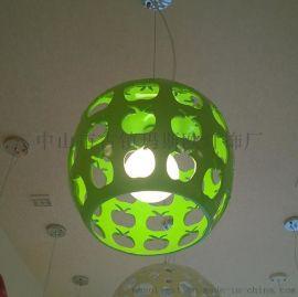 熱銷青蘋果簡約餐廳咖啡店特色創意吊燈樹脂石膏材質LED吊燈瑪斯歐MS-P1034L歐式現代風格吊燈