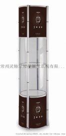 多功能专业圆柱展示架 魔层精品展柜 展台货架置物架 折叠展柱