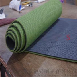 供应出口外贸热销双色TPE瑜伽垫子