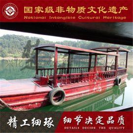 上海哪有木船厂家出售景区水库休闲观光船定制钓鱼船